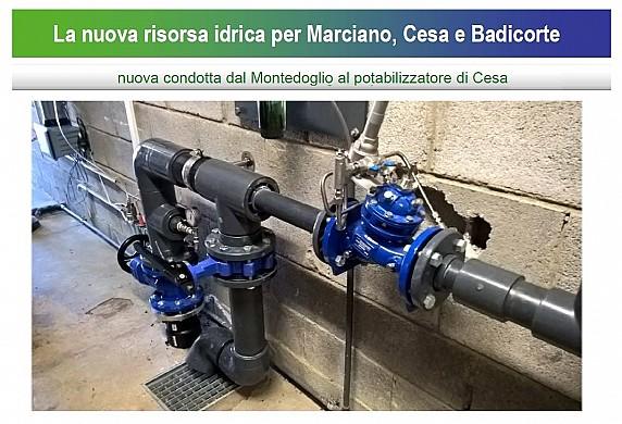 sistema idrico marciano nuova condotta montedoglio