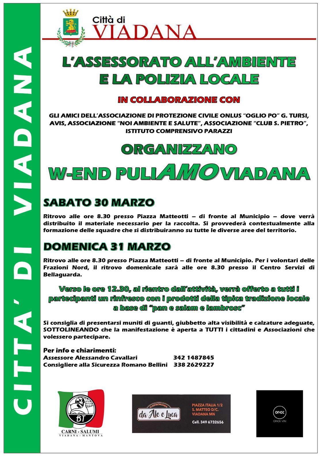 30/03/2019 - W-end puliAmo Viadana