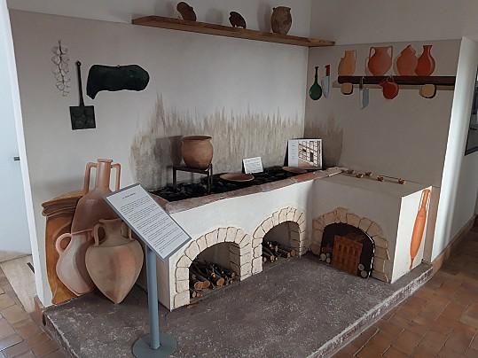 Museo Civico Archeologico_ricostruzione cucina romana